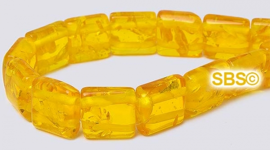 "6mm synthetic yellow amber round beads 16/"" strand"