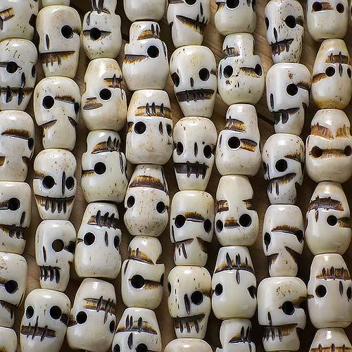 Bone 9x14 Carved Skull 108