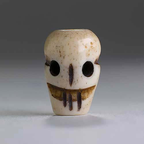 Bone 9x14 Carved Skull 1