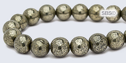 4558550084361 Pyrite Golden Rondelles 6 x 3-4mm stone beads 20pc